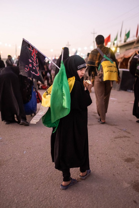 There is no age limit to follow the Arbaeen walk, from newborns to very old people in wheelchairs helped by their loved ones, they say Imam Hussein gives strength to all pilgrims.