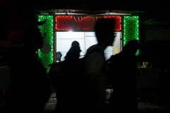 Some pilgrims walk together to Karbala even at night, when temperatures drop dramatically