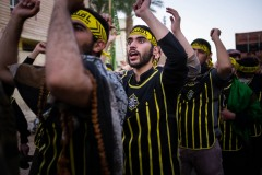Brothers of Heyat Honar ready to enter with his brotherhood into the mausoleums of Imam Hussein and Abolfazl Abbas in Karbala, Iraq