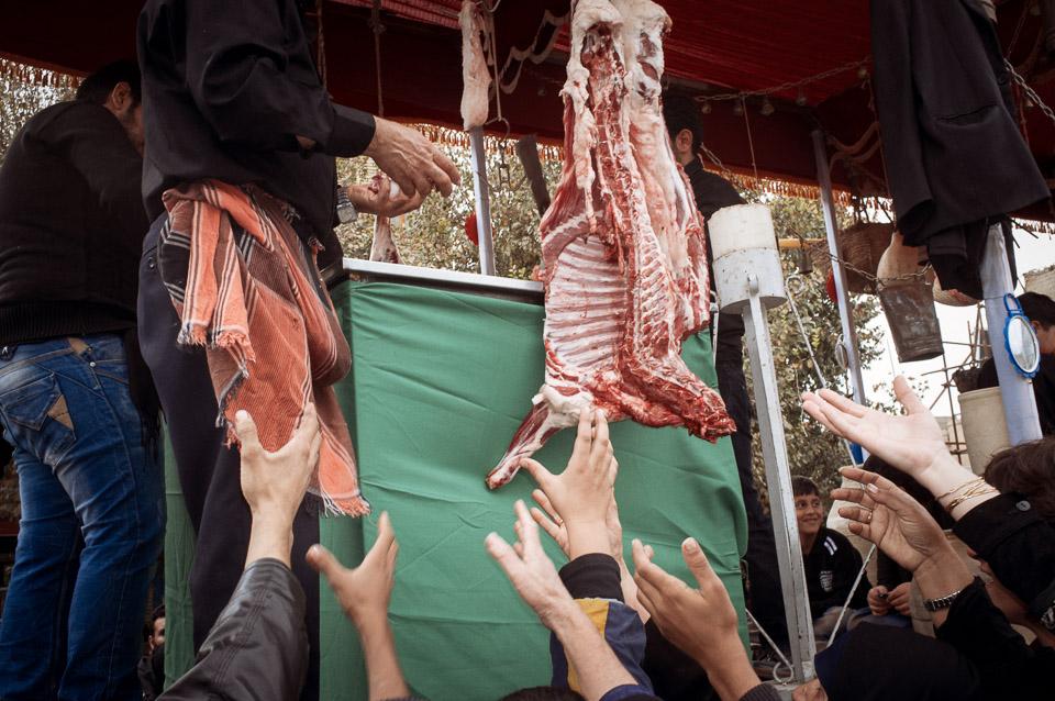 Meat durin Ashura. Yazd