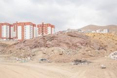 Housing blocks under construction in Pardis, Tehran (Iran).