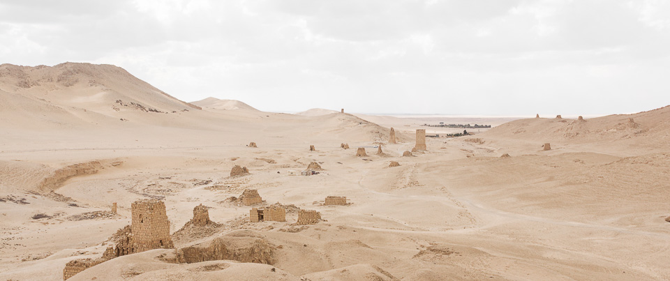 The valley of the Tombs. Palmyra, Syria