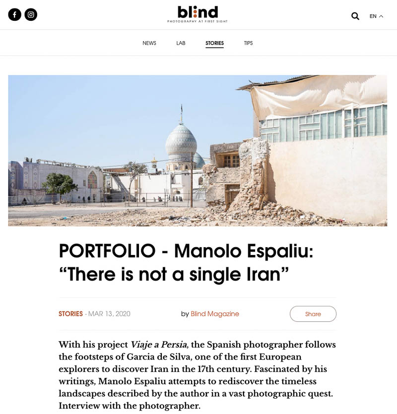 Entrevista para Blind Magazine